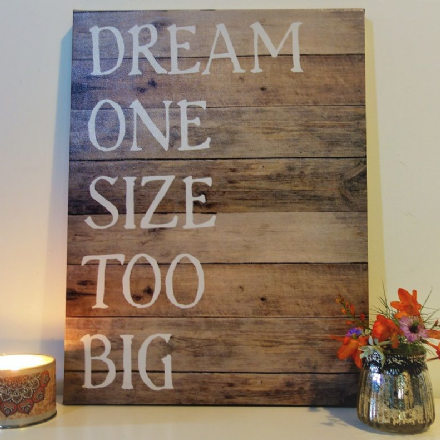 50% off Dream One Size too Big - Canvas